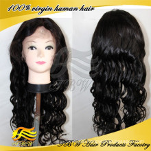 New Arrival Human hair glueless loose wave silk top lace front wig